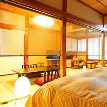 【和室7.5畳&ベッドルーム】左
