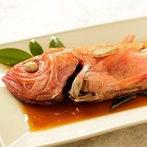 【食事】季節のお料理一例 金目鯛の姿煮