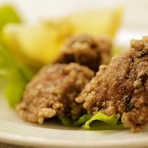 【食事】季節のお料理一例 ジビエの揚げ物
