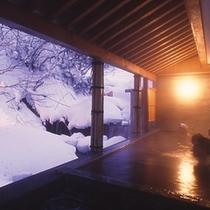雪景色の露天風呂