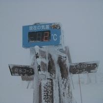 冬の鉢伏山山頂