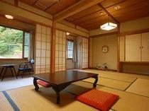 百姓座敷で過ごす、心と体に沁みる充実旅を。2間続きの和室(一例)