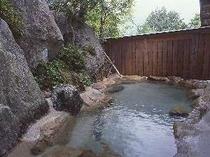 裏山の見える露天風呂(男性用・無料)