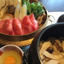 松茸と和牛のすき焼き