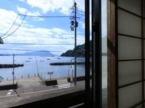 お部屋からの日本海が望めます