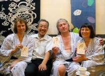 ロシアから温泉と日本文化の大好きなお客様がお越しになりました☆