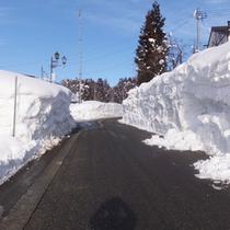 *【周辺(冬)】冬は2mも雪が積もる大自然が田を潤し、土の質、土壌の適度な肥沃さを作っています。