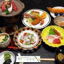 *【夕食一例】盛沢山の内容☆新鮮な海のもの、山のものを心をこめて調理しております。