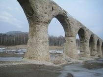 タウシュベツ川橋梁。