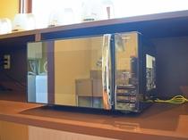 【本館2階・パブリックスペース】2016年12月より電子レンジをご用意いたしました。
