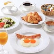 アメリカンブレックファースト、卵料理やパンのチョイスもうれしいところ(*^^*)