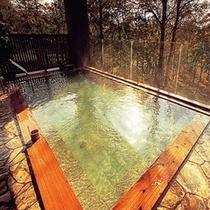 森の天空露天風呂(秋)①