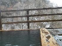 貸し切り露天風呂「寿」からの雪景色