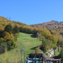 *スキー場の紅葉