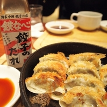 ** 博多・中州 餃子の店「鉄なべ」さんにて♪<パルコ店はホテルから徒歩約5分>