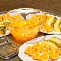 朝食後にフルーツもどうぞ☆内容は日替わりです♪