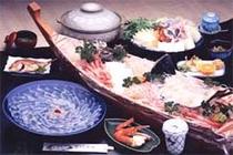 お食事例2(フグコース+姿造り)
