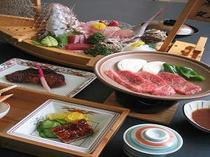 舟盛とお肉