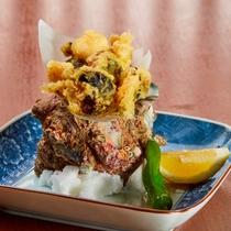 【夕食】さざえの天ぷら