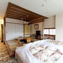 【和洋室】眺めのいいゆったりとした造りの和洋室(ベランダ付き)