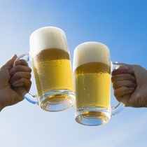 嬉しい生ビール飲み放題(イメージ)