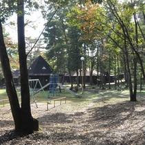 *中庭/木立に囲まれた中庭には、子供が遊べる遊具も設置されています。
