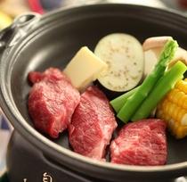 ■【特別プランお料理一品】信州牛の陶板焼き