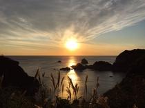 石廊崎からの夕日