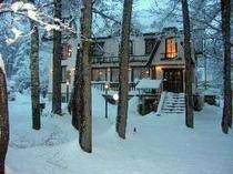 冬景色の外観