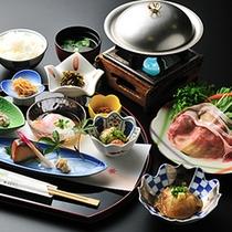 【朝食】もち豚しゃぶしゃぶの和食膳