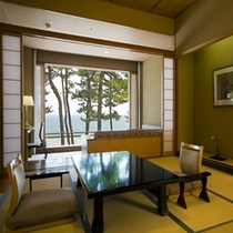露天風呂付き客室一例