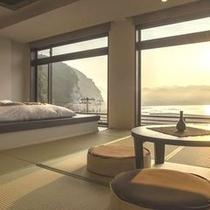 ◇海眺めの特別室≪16畳+小上がり4.5畳≫座布団仕様
