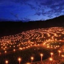 【秋】棚田百選にも選出!大山千枚田!例年11月頃からは夜祭り開催!(車で40分)