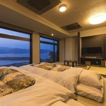 ◆海眺めの特別室〜お布団は小上がりへ