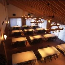 【レストラン】朝食や昼食の会場として利用いたします。
