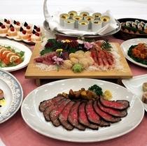 宴会のパーティー料理一例