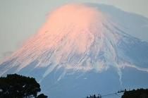 夕焼けと富士山