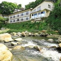 摺上川から見る外館