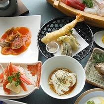 【夕食一例】氷見の魚介を使った素材を活かしたお料理。ボリュームも大満足です♪