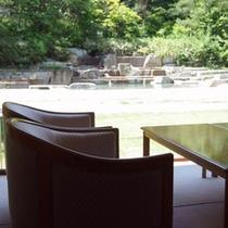 湯上り処と庭園