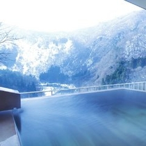 冬~露天風呂付客室(和洋室)からの景観