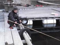 寒さなんて何のその!魚釣り初トライ♪
