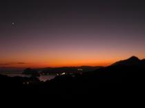 下田港の夕日