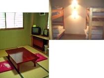 和室4畳半と二段ベット(2台) s