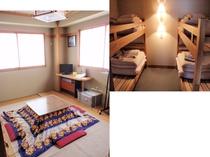 和室4畳半と二段ベット(二台)w