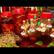 種類豊富な手造り果実酒!
