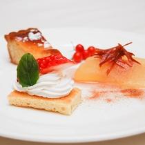 *[夕食一例/デザート]季節ごとに変わるメニューをお楽しみください。