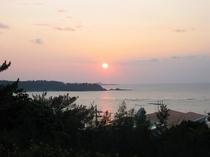 デッキからの夕陽
