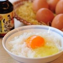 糸魚川のこだわり卵『ピュアエッグ』は、さわやかでフルーティーな味わいです(朝食ブッフェ)