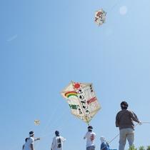 長岡市中之島・見附市大凧合戦 毎年6月に開催。畳約8枚分の大凧が空を舞う伝統行事(車で約30分)